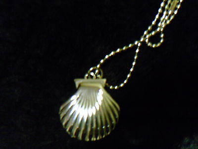 Watch necklace style shell shape with beaded chain new