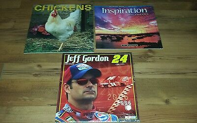 Unopened Calendars Lot of 3