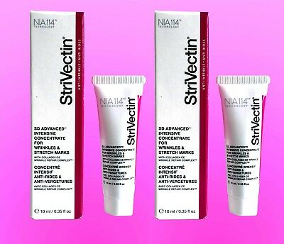StriVectin Intensive Concentrate Stretch Marks & Wrinkles Trvl Size NIB Lot of 2