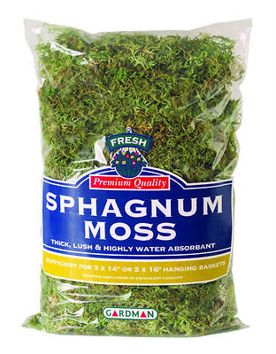 New Gardman Large Pack Fresh Sphagnum Moss Garden/Greenhouse Basket Liner
