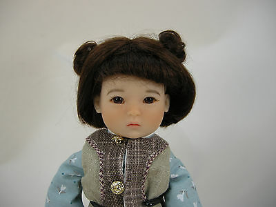 HD0010A Black Mohair Wig 5.5in fits TEN PING Ruby Red Galleria NO DOLL OR OUTFIT
