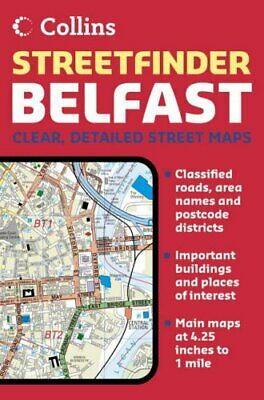 Belfast Streetfinder Colour Atlas by Collins UK Paperback Book The Cheap Fast