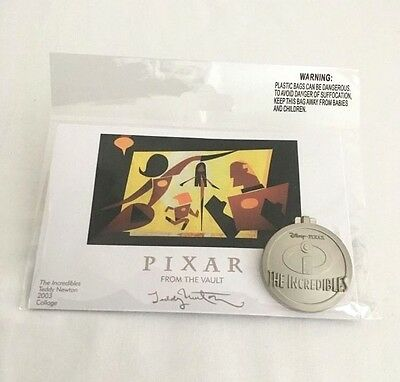 "Disney Pixar Pin Event ""from The Vault"" Incredibles Pin & 4"" X 6"" Print - Le 750"