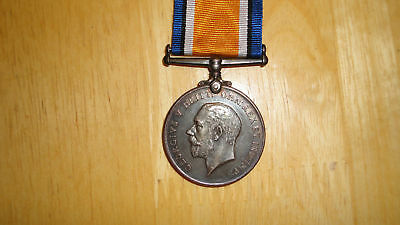 WW1 silver British War Medal 14 Hussars nice Cavalry