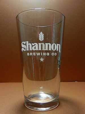 Shannon Brewing Company Pint Beer Glass Keller Texas Craft Brewery