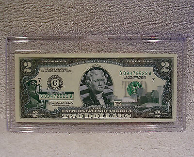 Louisiana - $2 Two Dollar Bill - Colorized State Landmark Uncirculated Authentic