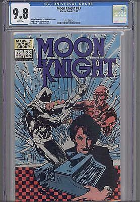 Moon Knight #33  CGC 9.8 1983 Marvel  Comic: Typewriter Cover: NEW CGC Frame