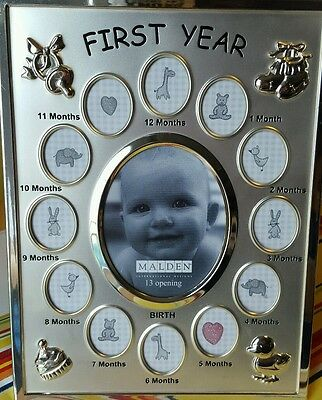 Malden 13 Opening Baby's First Year Collage Frame One Size