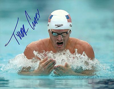 TYLER CLARY Signed Autographed 8x10 Photo USA Olympic Swimming Team Gold Medal