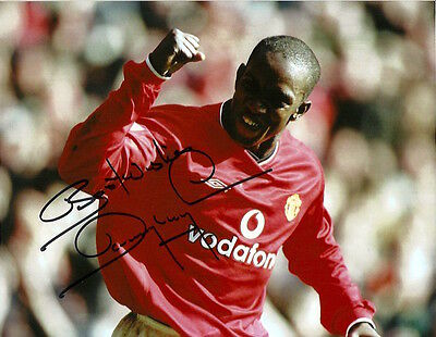 DWIGHT YORKE Signed Autographed 8x10 Photo Manchester United Exact Proof!