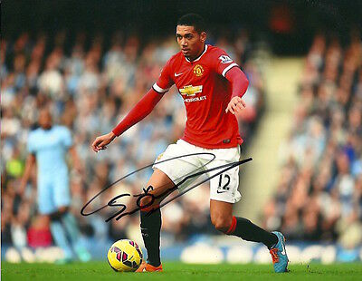 CHRIS SMALLING Signed Autographed 8x10 Photo Manchester United England