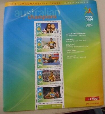 """2006 MELBOURNE XVIII COMMONWEALTH GAMES STAMP SHEETLET """" SHEET No7 """""""