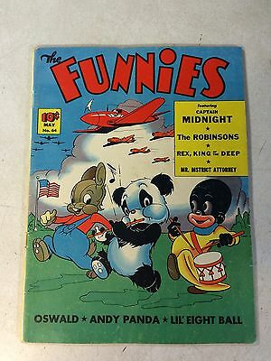 The Funnies #64 Key Issue, 1St Woody Woodpecker, Last Captain Midnight, 1942