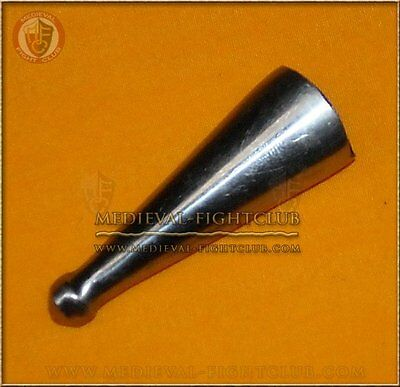 Metal Chape for scabbard - medium costume