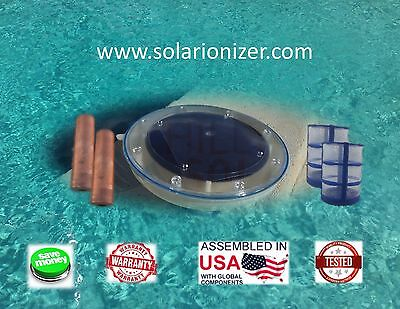 Solar Ionizer: 2 Copper Anodes & 2 Baskets  - Assembled & tested in USA