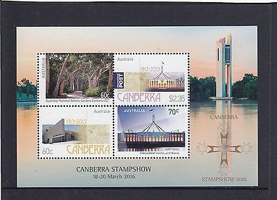 AUSTRALIA - 2016 CANBERRA STAMP SHOW special MINI-SHEET  MNH