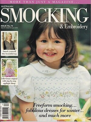Australian Smocking & Embroidery Issue 74 Heirloom  Multi-size Patterns NEW