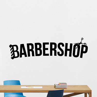 Barbershop Wall Decal Barber Logo Hair Salon Vinyl Sticker Poster Decor 141hor