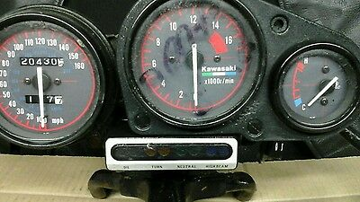 kawasaki zxr400 lL model clocks instruments