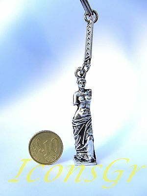 Ancient Greek Olympian God Miniature Sculpture Keyring Zamac Aphrodite Venus