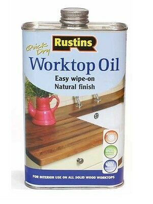 Rustins 500Ml Worktop Oil Quick Dry Protects & Nourishes Wood Timber