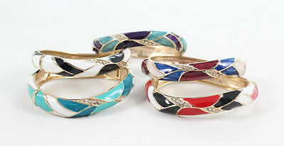 Stylish Enamel Twisted Womens Bracelet Bangle Fashion Jewelry Friendship Charm