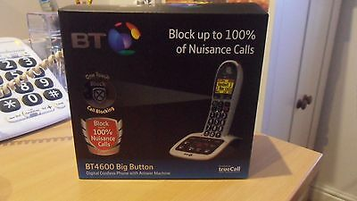 BT 4600 Big Button Digital Cordless Telephone with Advanced Call Blocker