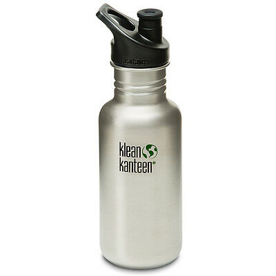 Klean Kanteen Classic 18 oz. Bottle with 3.0 Sport Cap - Brushed Stainless