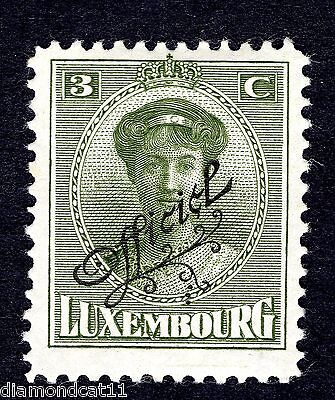 1922 Luxembourg 3c Green OPTD OFFICIEL SG O252 MOUNTED MINT R24624