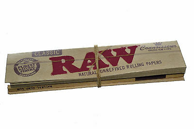 Raw Classic Connoisseur Natural Hemp Rolling Papers King Size Slim+Filter Tips