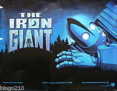 The Iron Giant Original 1999 Quad  Poster Brad Bird Vin Diesel Jennifer Aniston