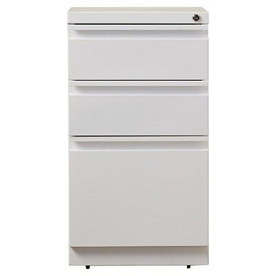 Filing Cabinet File Storage Hirsh Industries 3 Drawer Mobile in White