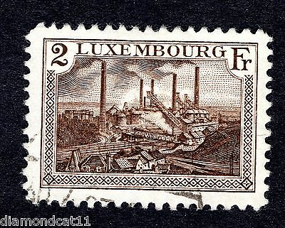 1921 Luxembourg 2Fr Brown SG 239 FINE USED R24438
