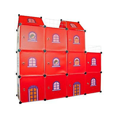 Kids Castle Cubes - Children Wardrobe Toy Boxes Storage Units Organizer Bookcase