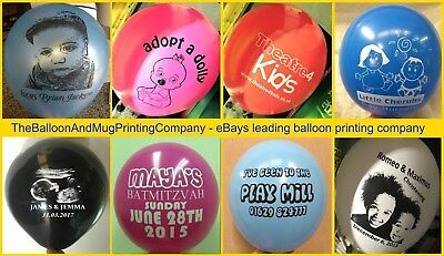 "100 Personalised Custom Printed Latex 12"" Balloons. 18th 21st 30th 40th Birthday"