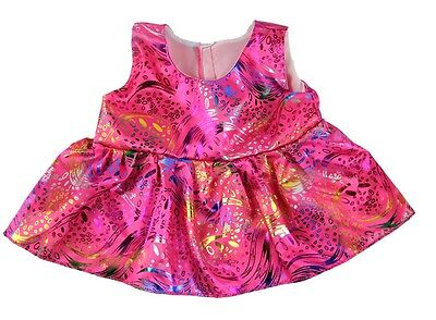 """Party Pink Dress Teddy Bear Clothes to fit 15"""" build a bear"""