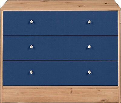 Wooden Storage Unit Chest of Drawers Stylish Home Child Room Furniture Pine/Blue