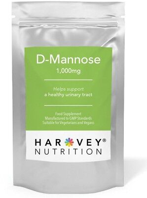 D-Mannose 1000mg Tablets Healthy Urinary tract, Cystitis, UTI 1st Class Post