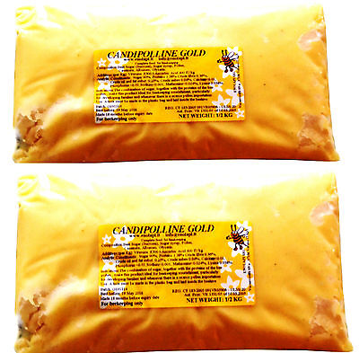 [FR] 12x 0.5KG Pouches of Candipolline Gold Bee Feed