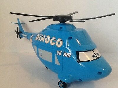"Disney Pixar Cars The King Dinoco 14"" Talking Helicopter Talking Toy"