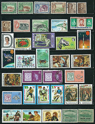 Dominica - 86 stamps mixed  -  Years 1918  to 1981