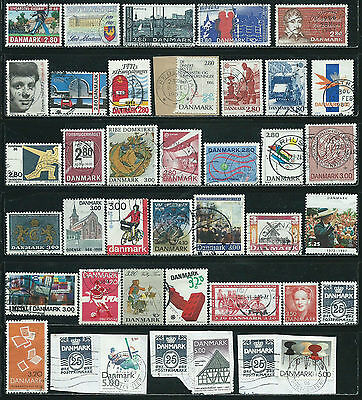 Denmark - 66 stamps used - Years 1986  to 1998....christmas seal included, etc.