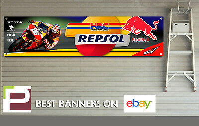 Repsol Honda Racing Banner for Workshop, Garage, RC213v, Dani Pedrosa, Red Bull