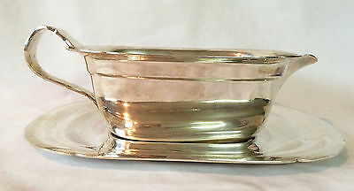 Vintage Reed & Barton Mayflower 5000 Gravy Boat w/tray