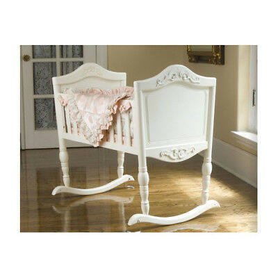 Green Frog Antique White Cradle