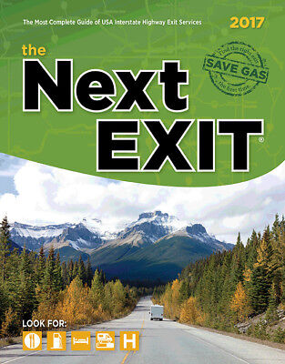 """Universal Map 2017 The Next Exit Guide 11"""" x 8.5"""""""