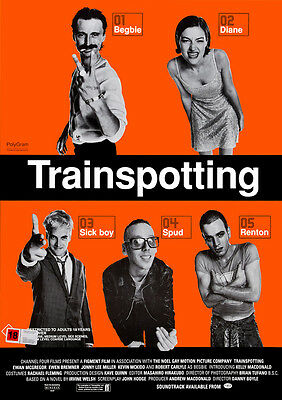 Trainspotting Poster Print Borderless Stunning Vibrant Sizes A1 A2 A3 A4