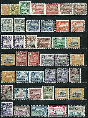 Antigua - 42 stamps mixed - Years 1922 to 1970