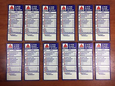 Vintage Gas & Oil Advertising Citgo Service Station Reminder Door Jam Stickers