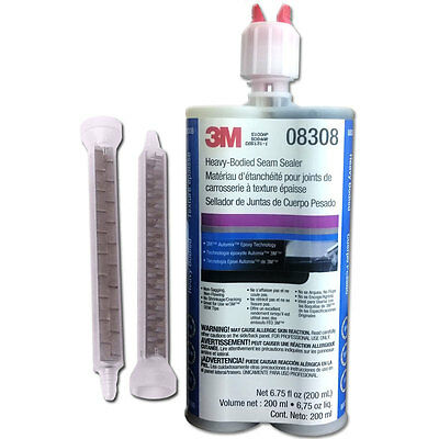 3M 08308 Heavy-Bodied Seam Sealer 200 mL with 2 Nozzles *Fresh* 8308